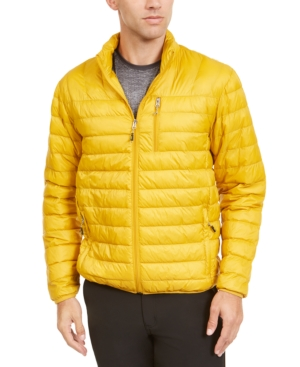 Hawke & Co. Outfitter Men's Packable Down Blend Puffer Jacket, Created For Macy's In Dull Gold