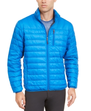 Hawke & Co. Outfitter Men's Packable Down Blend Puffer Jacket, Created For Macy's In Victoria Blue