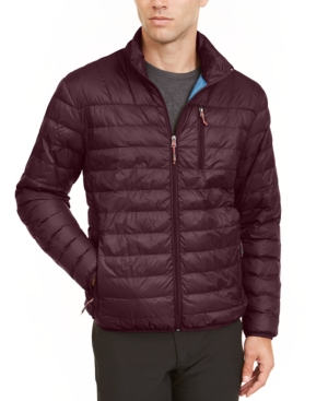 Hawke & Co. Outfitter Men's Packable Down Blend Puffer Jacket, Created For Macy's In Winetasting