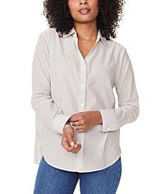 NYDJ Striped Cotton Button-Down Shirt