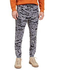 INC Men's Gray Camo Joggers, Created For Macy's