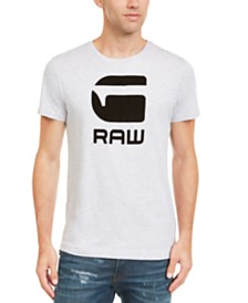 G-Star RAW Men's Flocked Hamburger T-Shirt