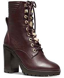 Bastian Lace-Up Leather Booties