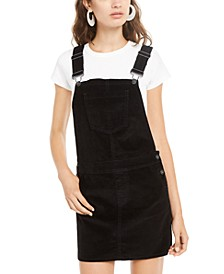 Juniors' Corduroy Overalls Dress