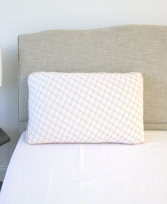 Supportive Memory Foam Cluster Pillow with Copper-Infused Cover - Standard