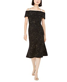 Velvet Off-The-Shoulder Dress, Created For Macy's