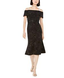 28th & Park Velvet Off-The-Shoulder Dress, Created For Macy's
