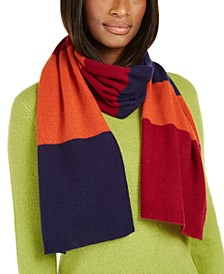 Variegated-Stripes Cashmere Scarf, Created for Macy's