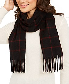 Windowpane Woven Cashmere Scarf, Created for Macy's