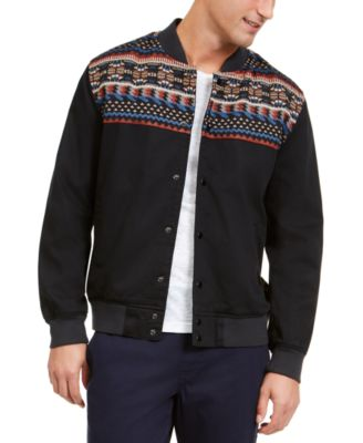 Men's Jacquard Blocked Jacket, Created For Macy's