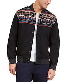 American Rag Men's Jacquard Blocked Jacket, Created For Macy's