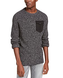 Men's Crewneck Pocket Sweater, Created For Macy's