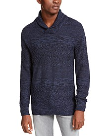 Men's Multi-Textured Shawl-Collar Sweater, Created for Macy's