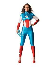 Little and Big Girl's Avengers American Dream Female Bodysuit Child Costume