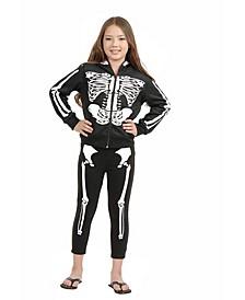 Little and Big Girl's Skeleton Leggings Child Costume