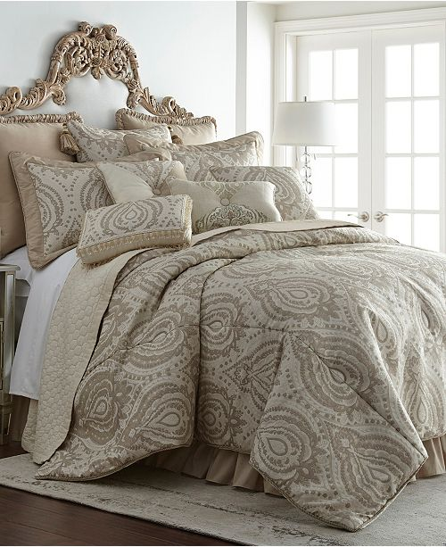 Austin Horn Classics Thread and Weave Tuscany 3-Piece Comforter Set - Queen
