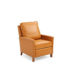 Gold Sparrow Prescott Recliner Chair with Nailhead Trim