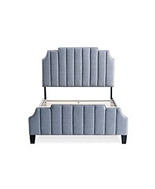 Diana Upholstered Channel Tufted Bed, Queen
