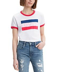Levi's® Cotton Logo Ringer T-Shirt