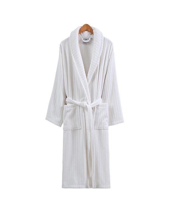 OZAN PREMIUM HOME Line Luxury Velvet Unisex Bath Robe