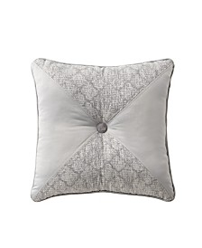 "Waterford Aidan 18"" X 18"" Tufted Square Decorative Pillow"