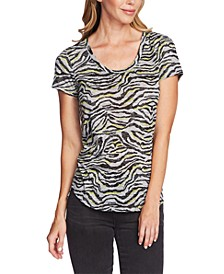 Zebra-Print T-Shirt
