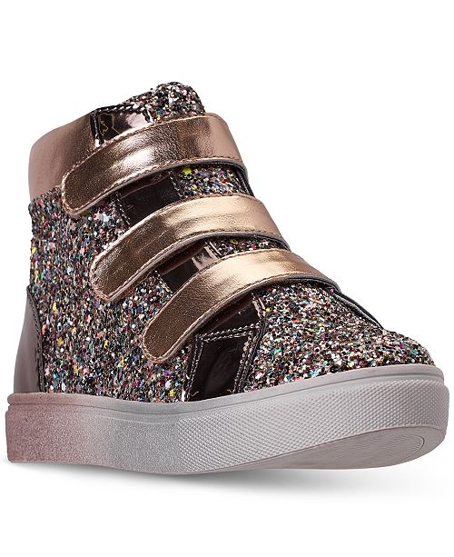 Steve Madden Little Girls JZOOM High Top Stay-Put Closure Casual Sneakers from Finish Line