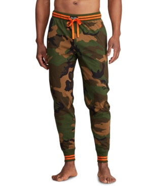size 7 on feet images of official images Men's Knit Camo Jogger Pants in Surplus Camo W/Dusk Orange
