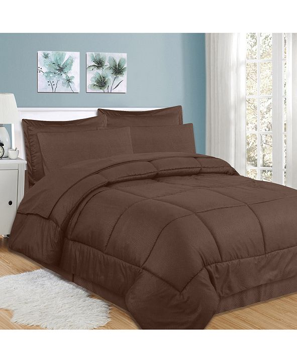 Sweet Home Collection Checkered 8-Pc. Queen Comforter Set