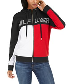 Tommy Hilfiger Sport Colorblocked Zip-Up Hoodie