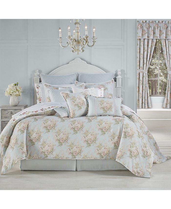 Royal Court - Hilary Blue King 4pc. Comforter Set