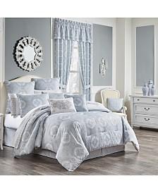 Claremont Blue Queen 4pc. Comforter Set