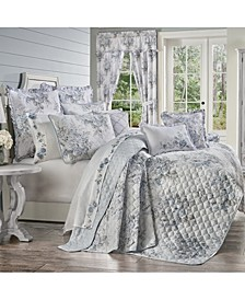 Estelle Blue Full/Queen 3pc. Quilt Set
