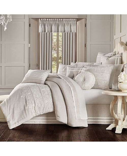 J Queen New York Lauralynn Beige King 4pc. Comforter Set