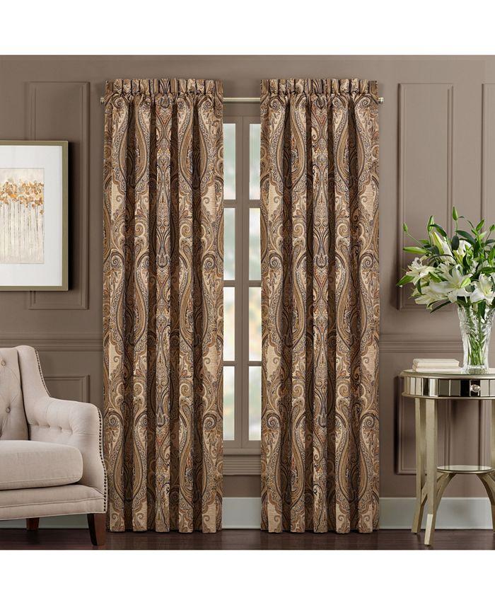 "J Queen New York - Luciana   Indigo Indigo 84"" Window Panel Pair"