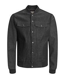 Jack & Jones Men's New Autumn Biker Denim Jacket