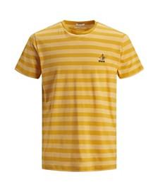 Jack & Jones Men's New High Summer Short Sleeved Stripe Tshirt