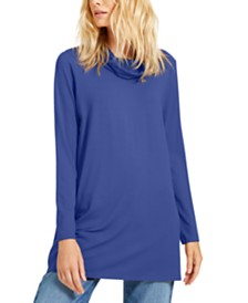 Eileen Fisher Cowl-Neck Tunic Sweater