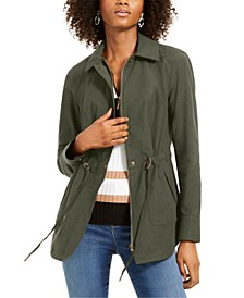 INC Drawstring Anorak Jacket, Created For Macy's