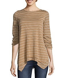 John Paul Richard Striped Top with Open Back