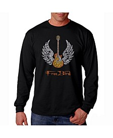 Men's Word Art Long Sleeve T-Shirt- Lyrics to Freebird