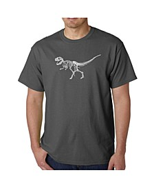 Men's Word Art T-Shirt - Dinosaur T-Rex Skeleton