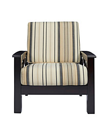 Handy Living Riverwood X Design Arm Chair with Exposed Wood Frame