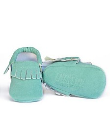 Emerson and Friends Baby Unisex Fringe Moccasins