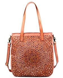 Stellar Stud Leather Tote Bag