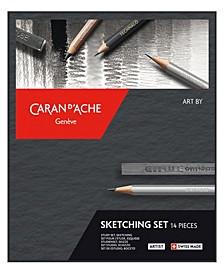 Art by Caran D'Ache Sketching, 14 Piece Box Set