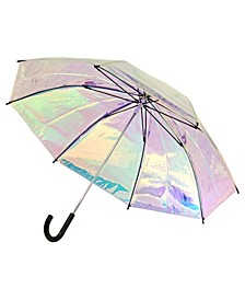 Iridescent Stick Umbrella
