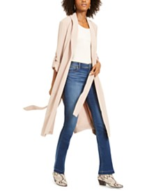 I.N.C. Belted Draped Trench Coat, Created for Macy's