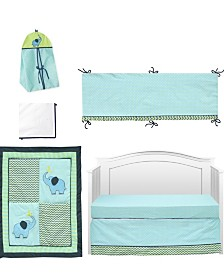 Pam Grace Creations Zigzag Elephant 6 Piece Crib Bedding Set