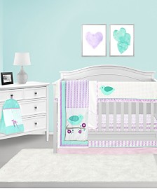 Pam Grace Creations Lovebird 6 Piece Crib Bedding Set